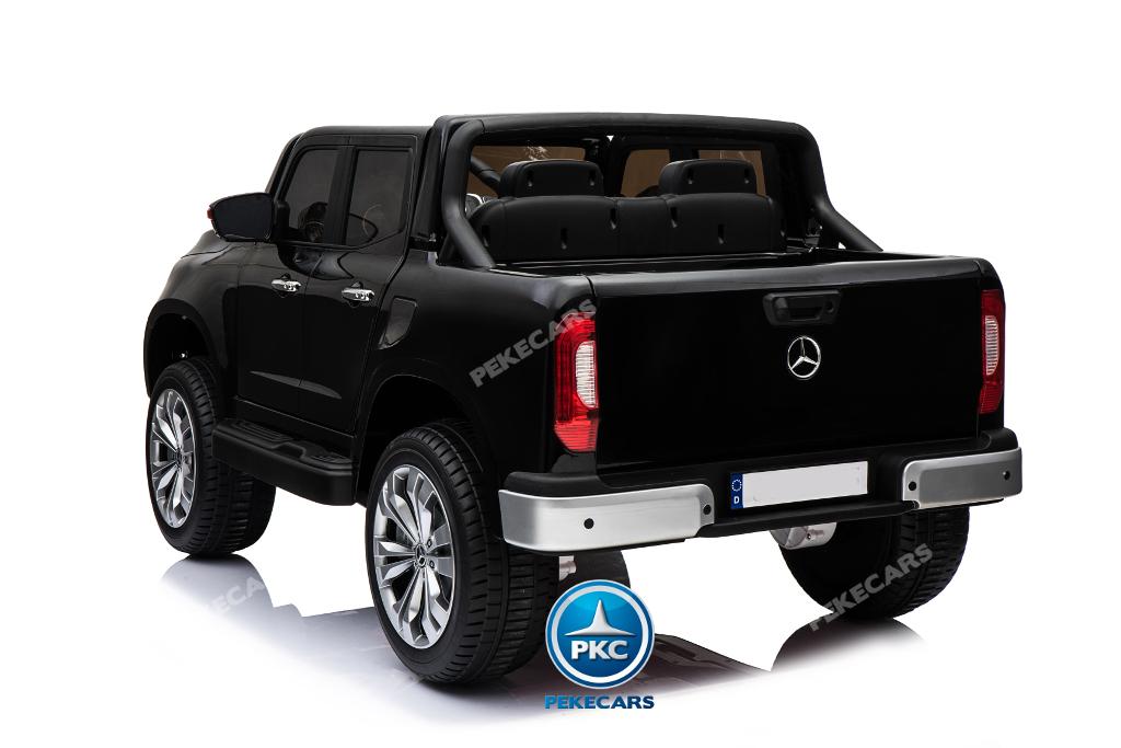 Coche electrico para niños Mercedes Pickup X Class 12V Negro vista trasera