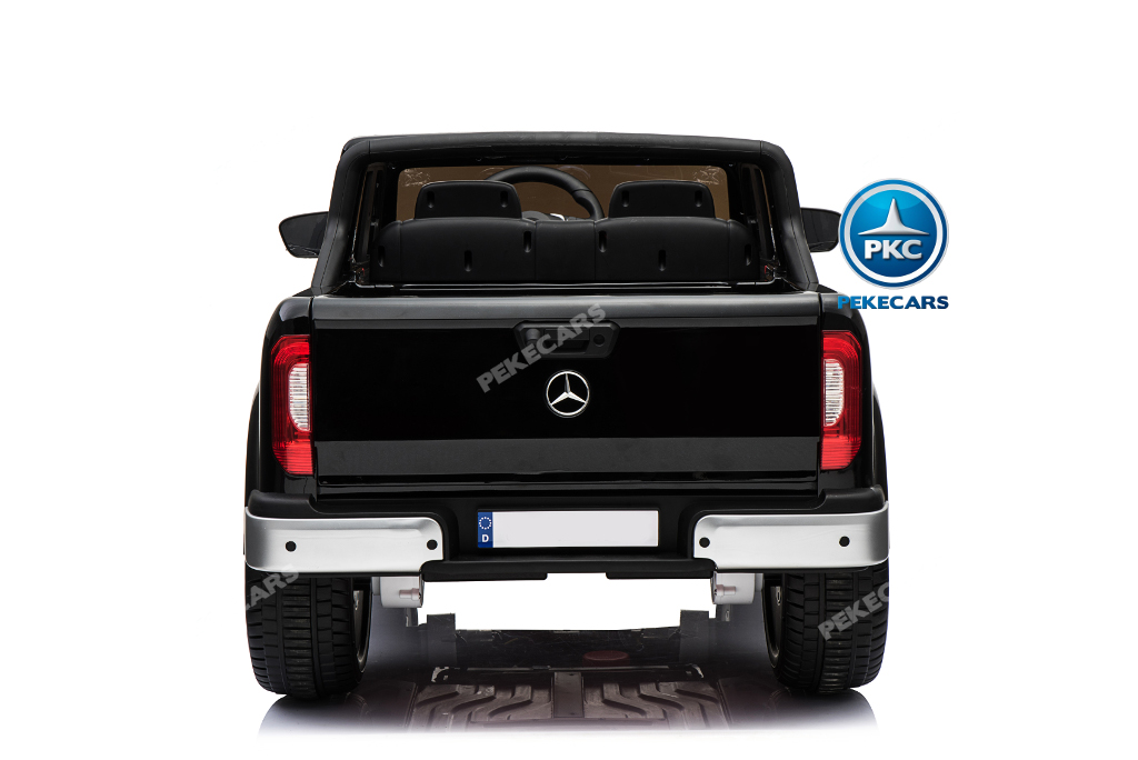 Coche electrico infantil Mercedes Pickup X Class 12V Negro luces frontales