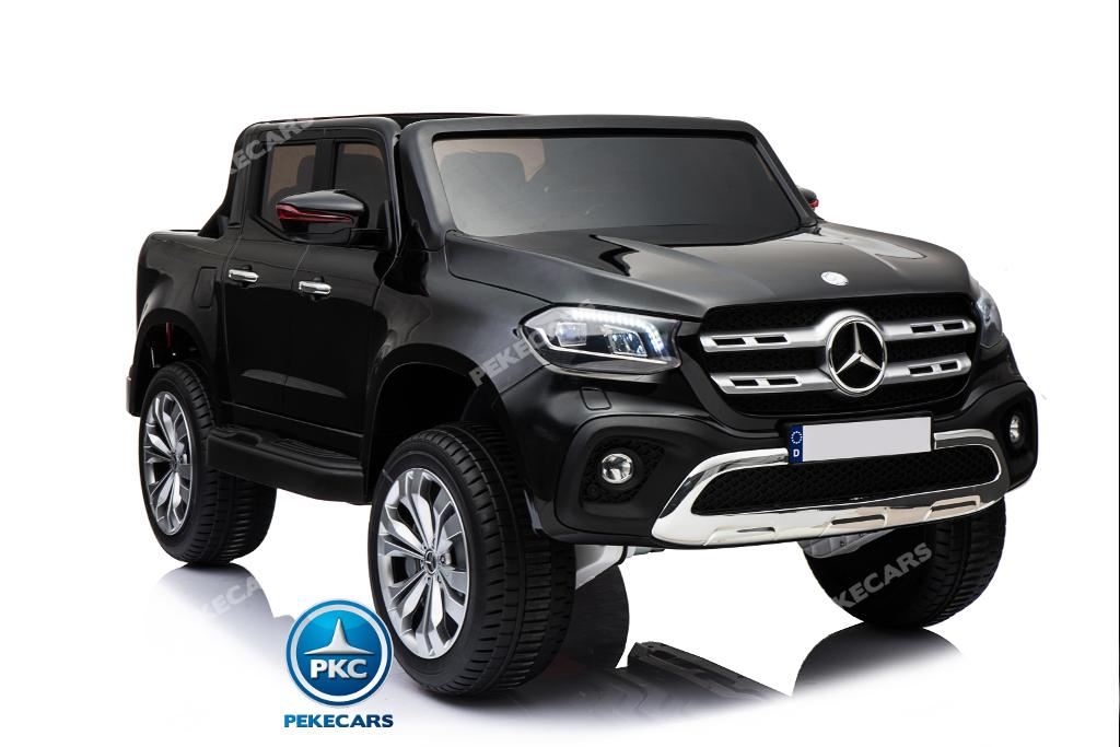 Coche electrico para niños Mercedes Pickup X Class 12V Negro ruedas de caucho antipinchazos