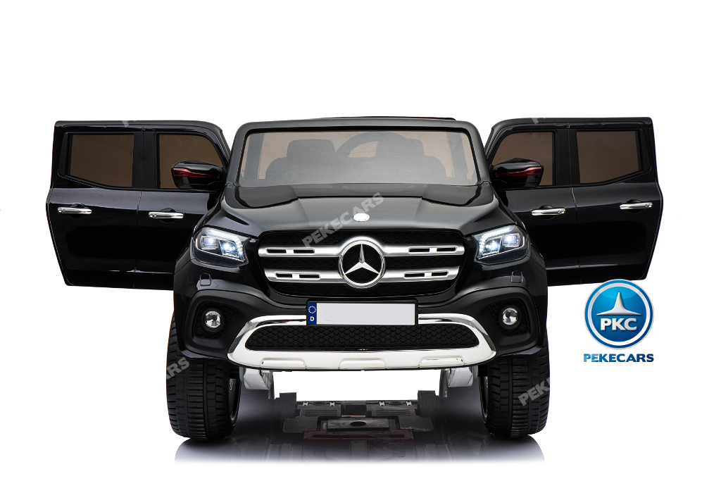 Coche electrico infantil Mercedes Pickup X Class 12V Negro con luces traseras
