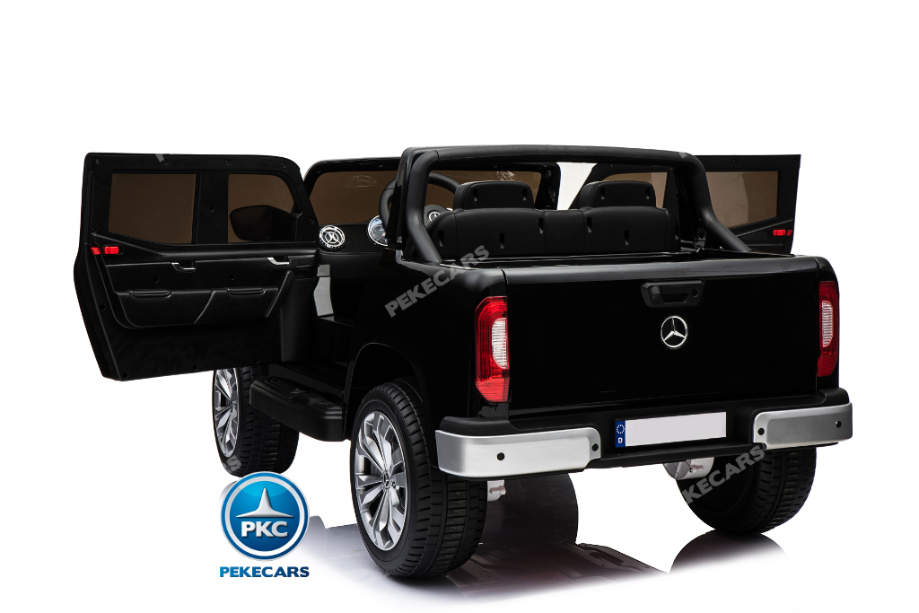 Coche electrico para niños Mercedes Pickup X Class 12V Negro lateral