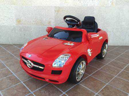 MERCEDES AMG SLS 6V RED - DOS MOTORES CON RC Pekecars
