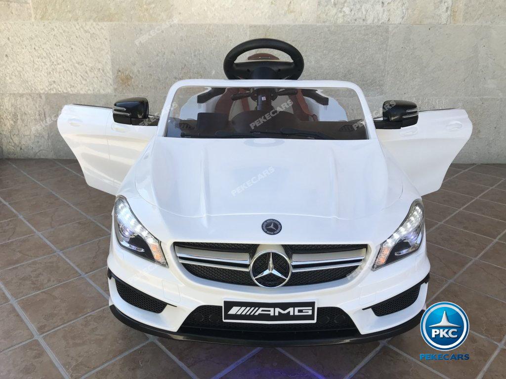 Coche electrico infantil Mercedes CLA45 Blanco vista frontal