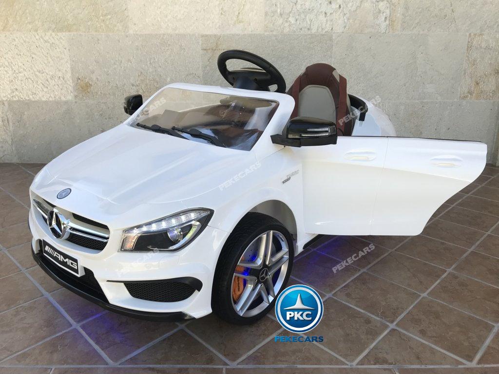 Coche electrico para niños Mercedes CLA45 Blanco vista principal