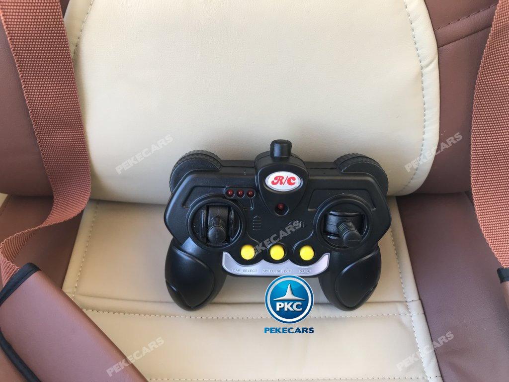 Coche electrico para niños Mercedes CLA45 Blanco nuevo mando radiocontrol