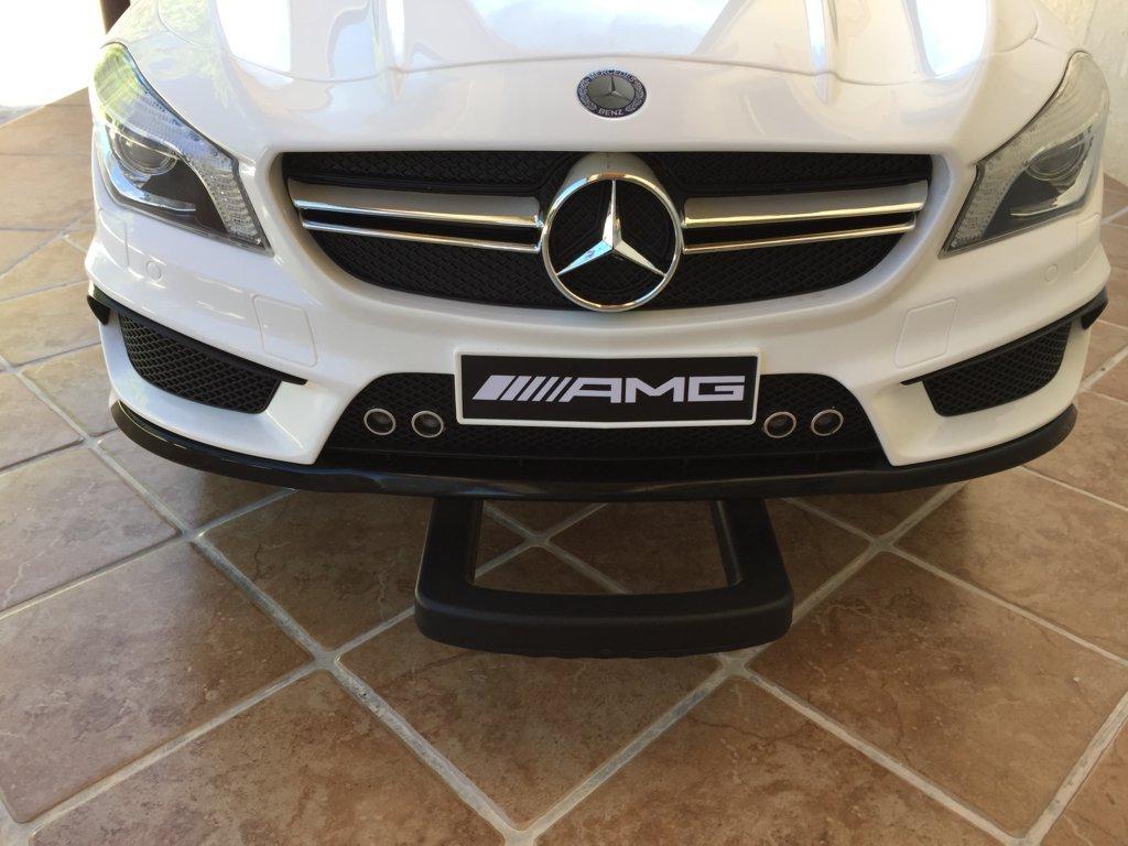 Coche electrico infantil Mercedes CLA45 Blanco sistema stroller