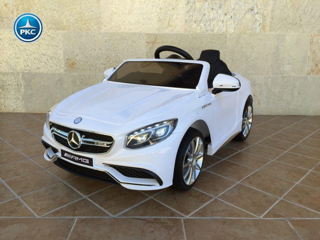 Coche electrico para niños Mercedes S63 Blanco vista principal