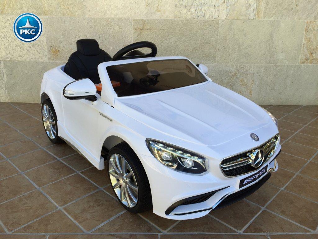 Coche electrico para niños Mercedes S63 Blanco