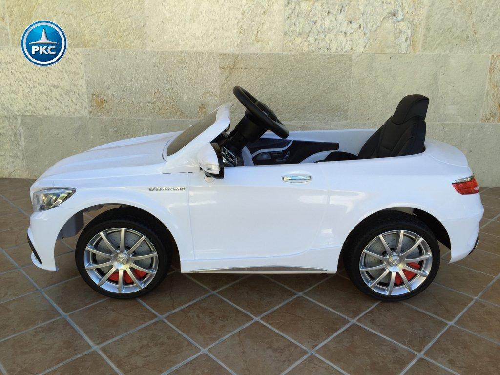 Coche electrico infantil Mercedes S63 Blanco