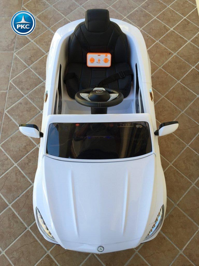 Coche electrico infantil Mercedes S63 Blanco vista aerea
