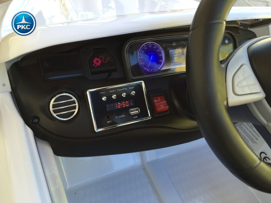Coche electrico para niños Mercedes S63 Blanco dashboard