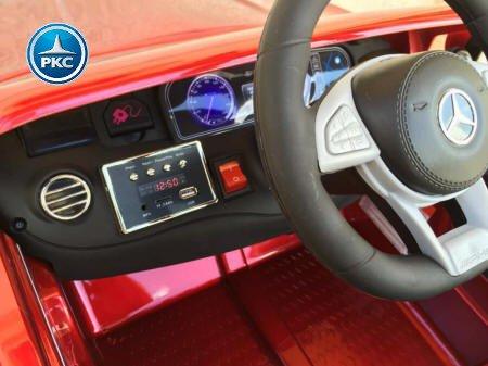 Coche electrico infantil Mercedes S63 Rojo metalizado dashboard