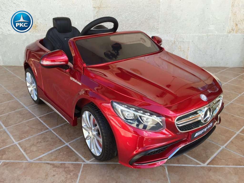 Coche electrico infantil Mercedes S63 Rojo metalizado