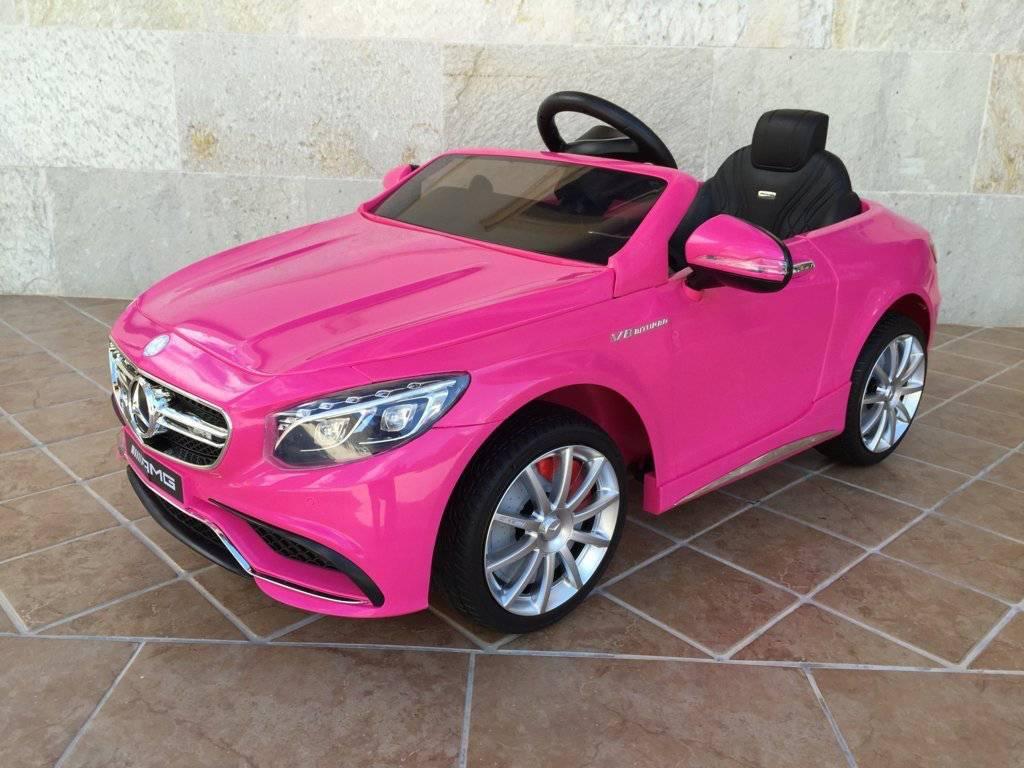 Coche electrico para niños Mercedes S63 Rosa vista principal