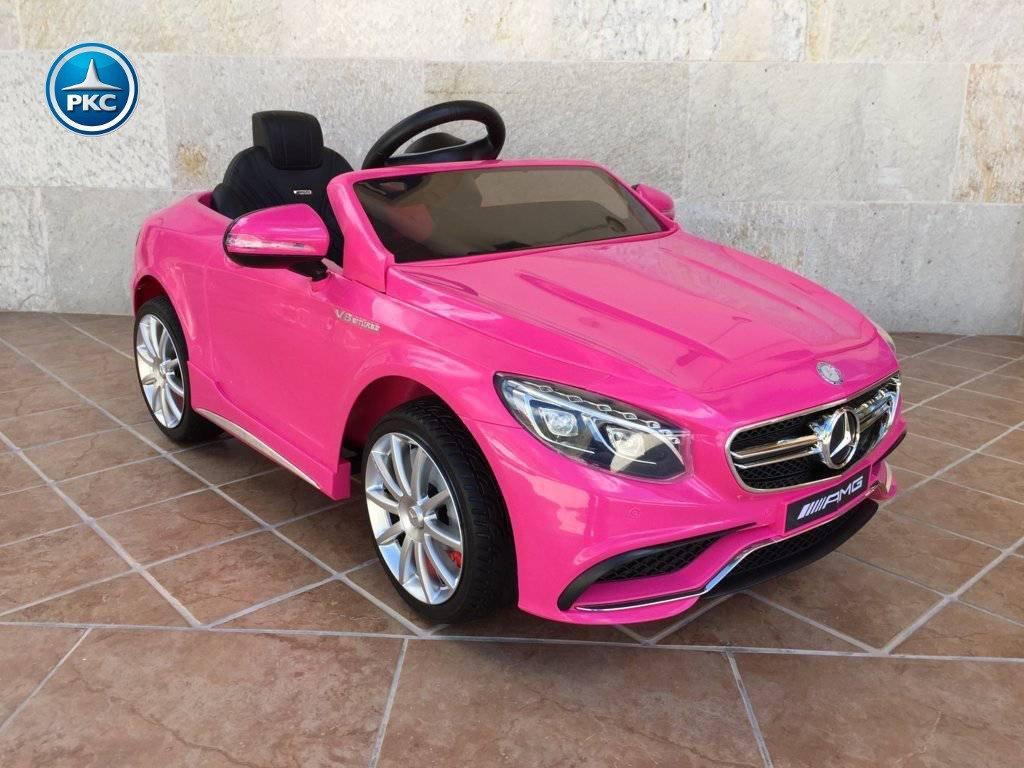 Coche electrico infantil Mercedes S63 Rosa