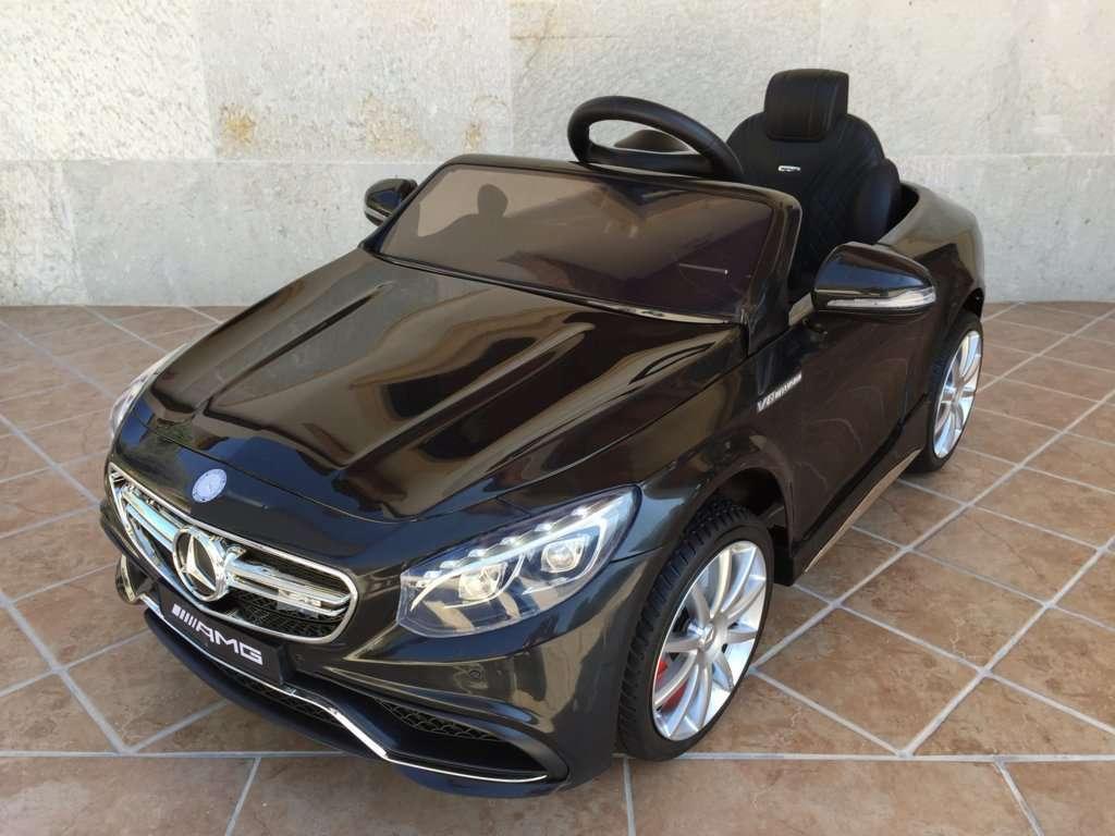 Outlet - Coche electrico para niños Mercedes S63 Negro vista principal