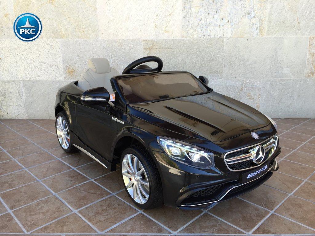 Coche electrico infantil Mercedes S63 Negro