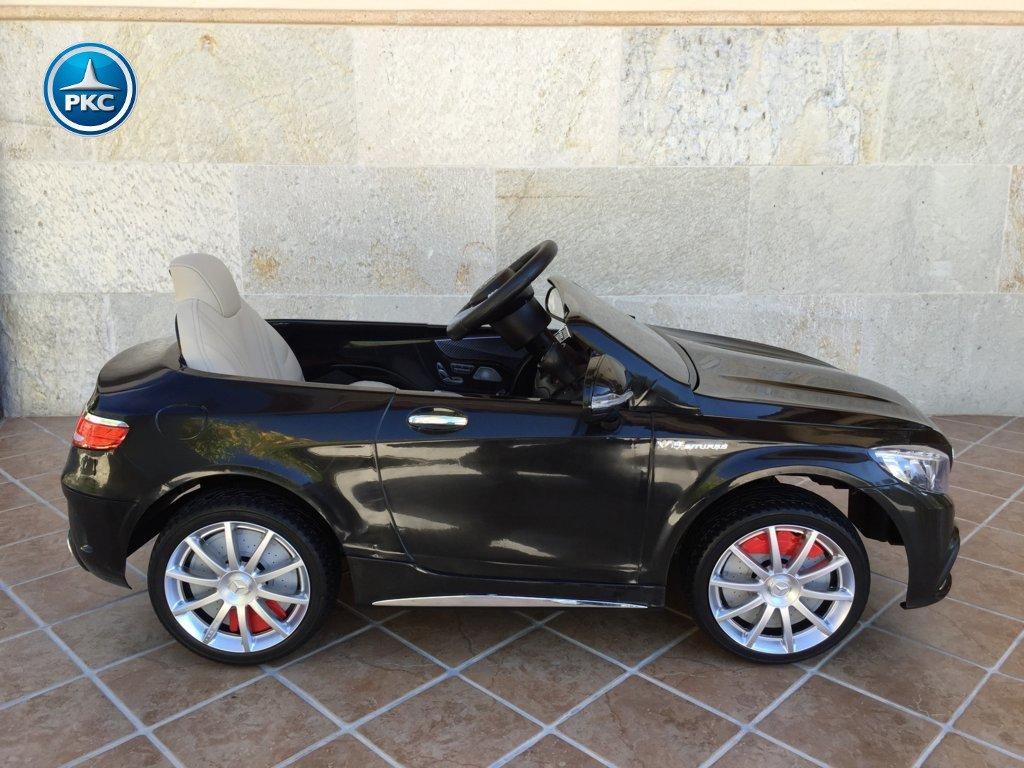 Coche electrico para niños Mercedes S63 Negro lateral