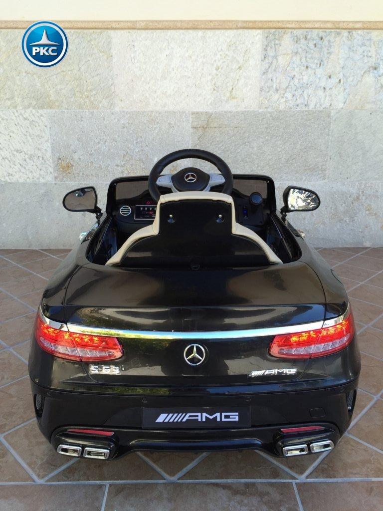 Coche electrico infantil Mercedes S63 Negro vista trasera