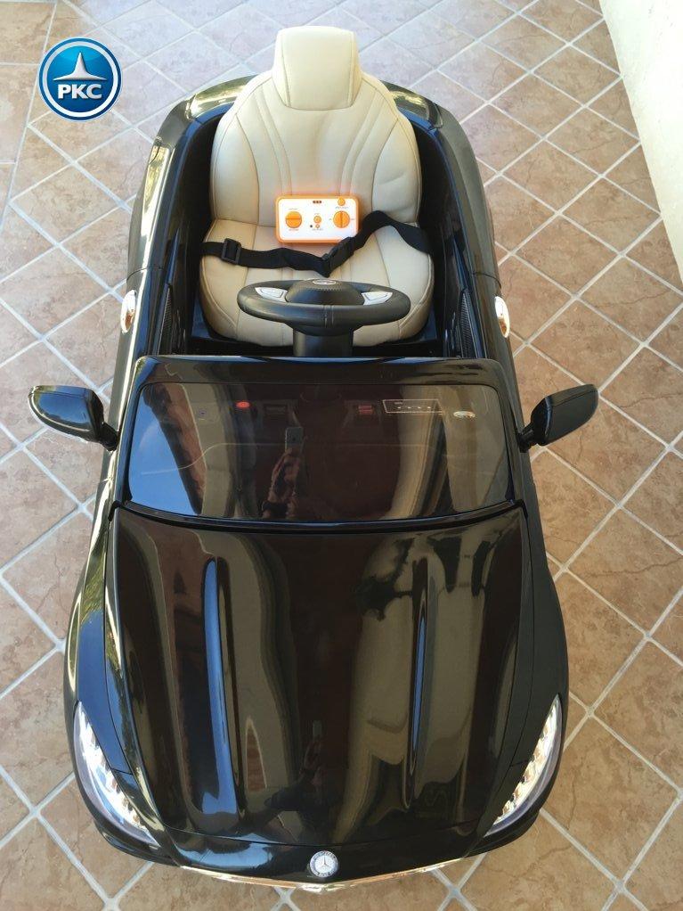 Coche electrico infantil Mercedes S63 Negro vista aerea