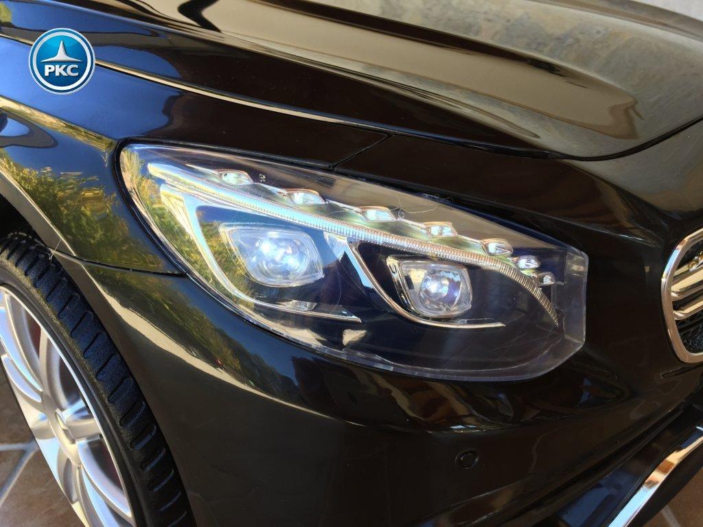 Coche electrico infantil Mercedes S63 Negro luces frontales