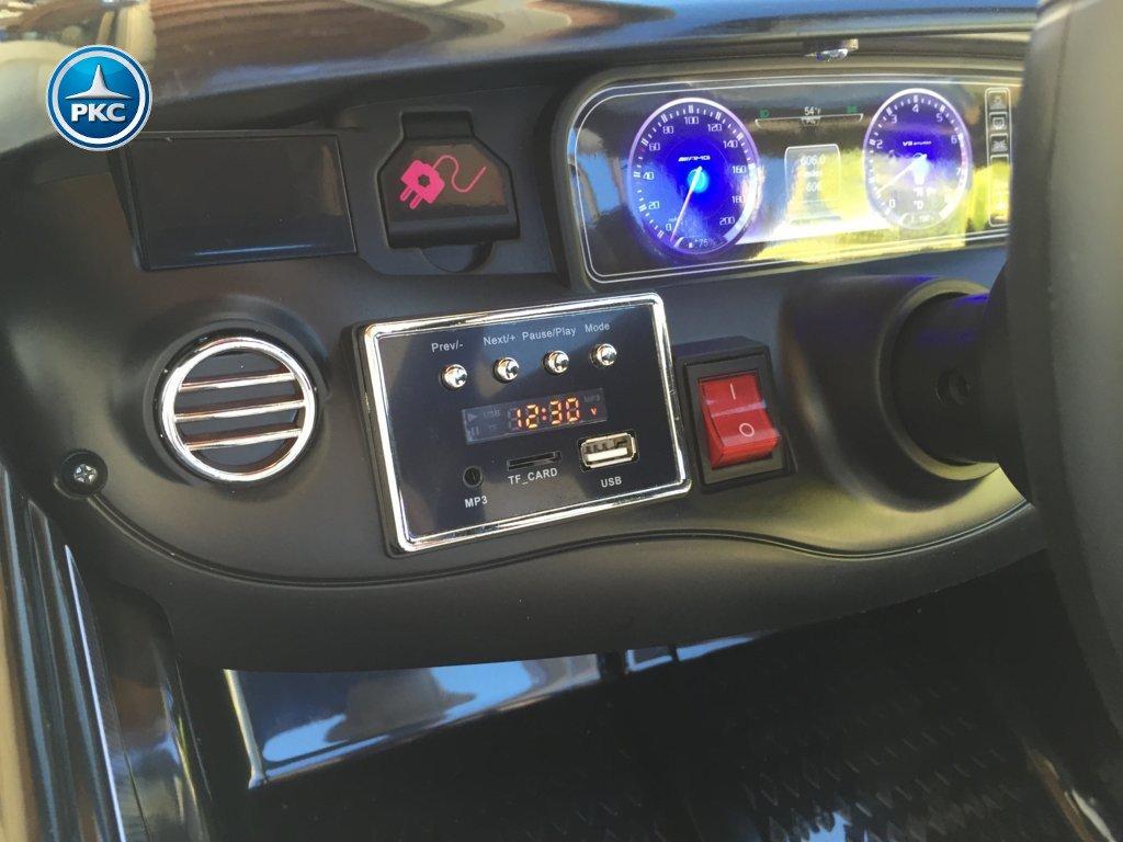 Coche electrico para niños Mercedes S63 Negro dashboard