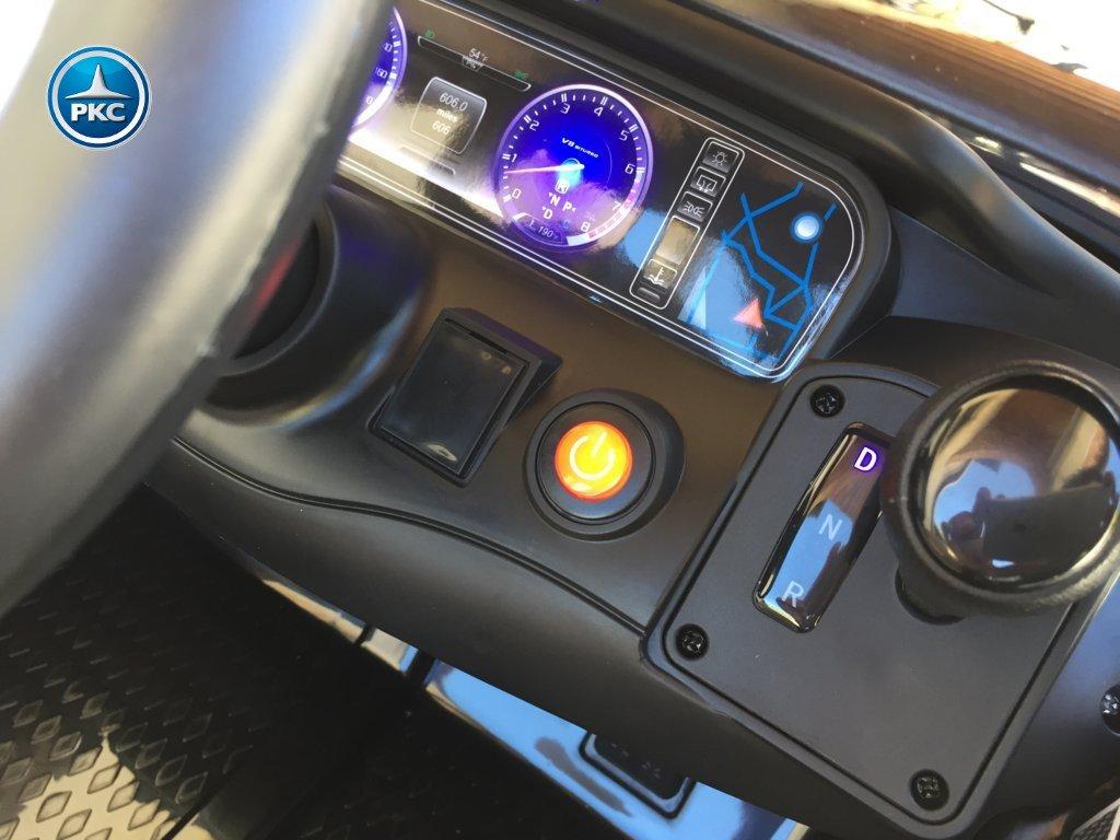 Coche electrico infantil Mercedes S63 Negro boton de encendido