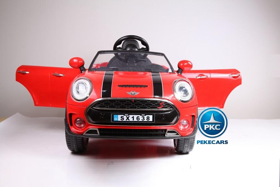 Coche electrico infantil Mini Style Rojo vista frontal