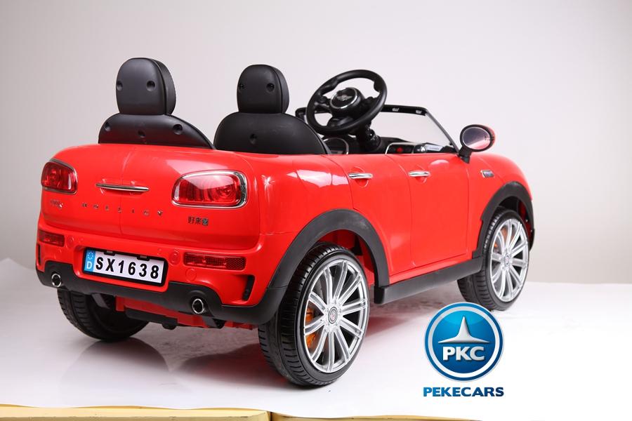 Coche electrico para niños Mini Style Rojo detalles del interior