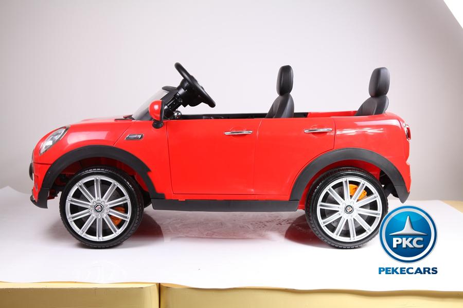 Coche electrico infantil Mini Style Rojo desde arriba
