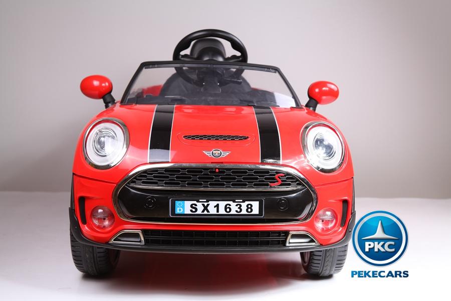 Coche electrico infantil Mini Style Rojo boton de arranque