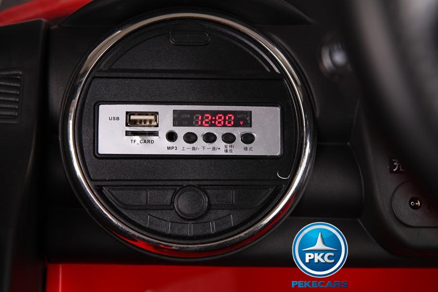Coche electrico infantil Mini Style Rojo mando radiocontrol