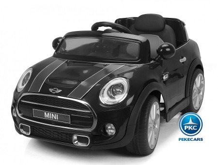 Mini Hatch negro 12V Pekecars