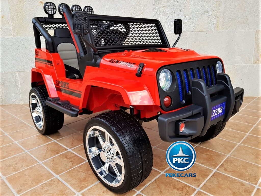 Monster Jeep rojo 4x4 12 2 Plazas
