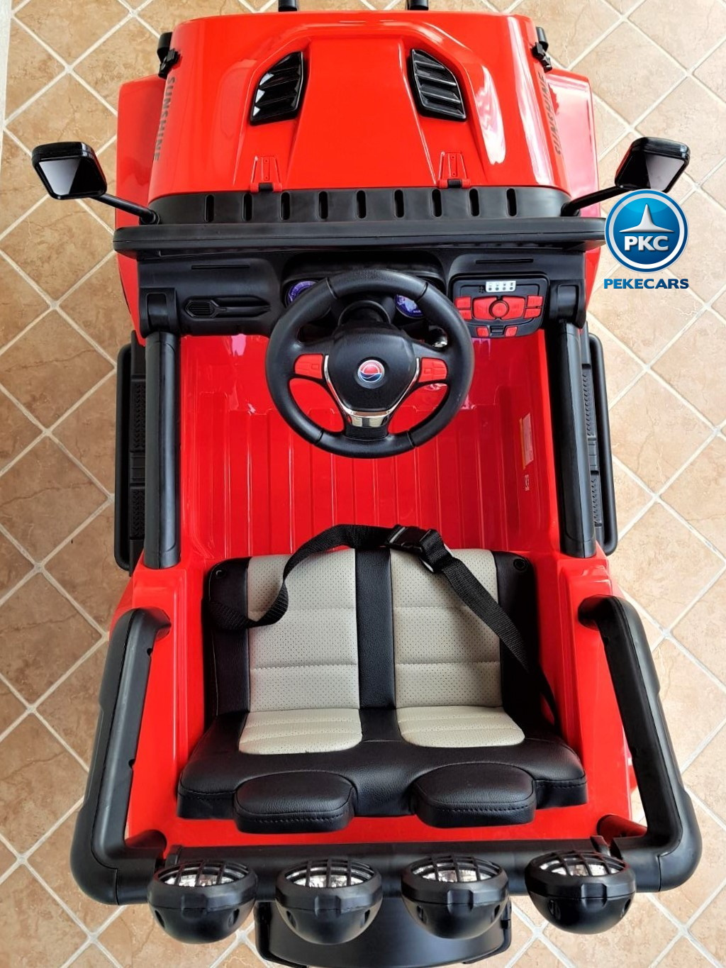 Coche electrico infantil Monster Jeep Rojo