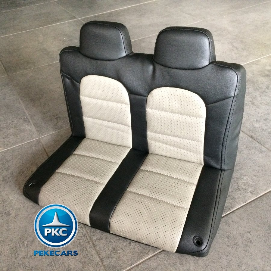 Coche electrico infantil Monster Jeep Negro asiento