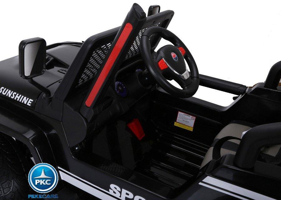 Coche electrico para niños Monster Jeep Negro