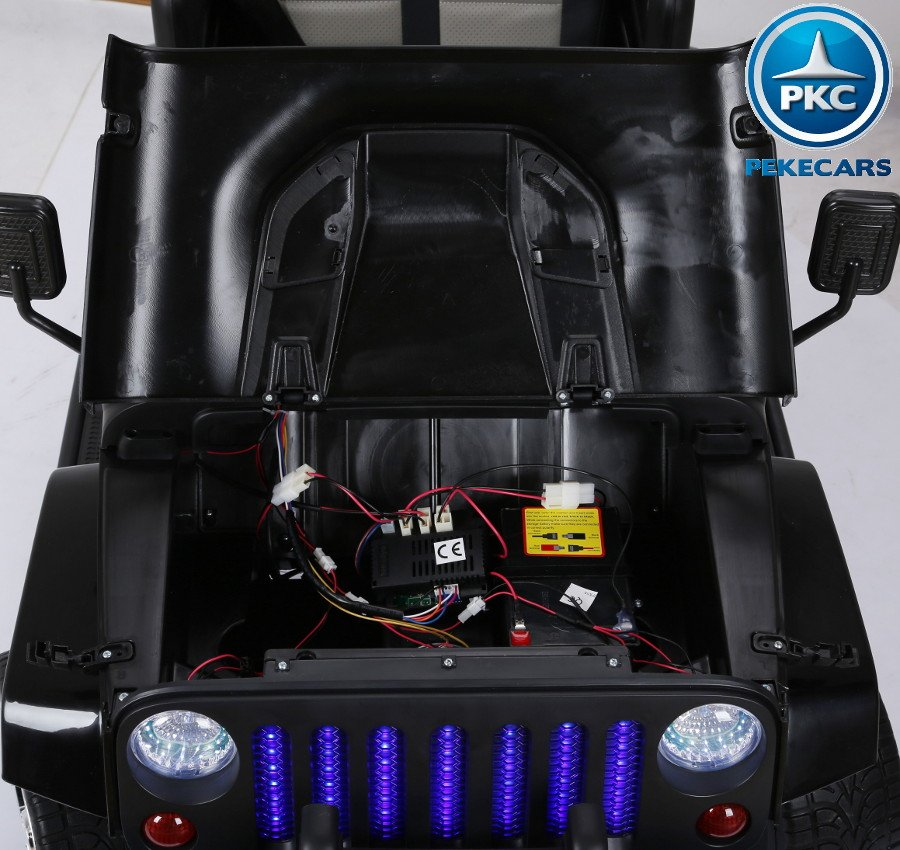 Coche electrico infantil Monster Jeep Negro