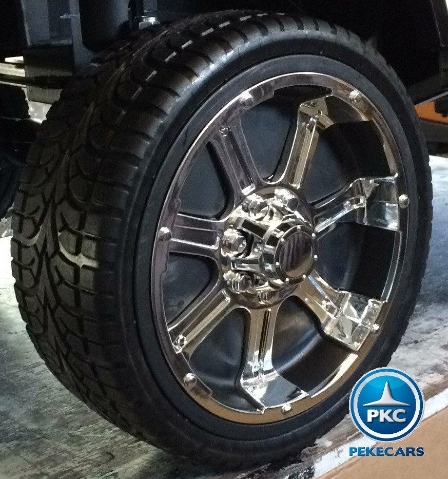 Coche electrico infantil Monster Jeep Negro ruedas de caucho antipinchazos