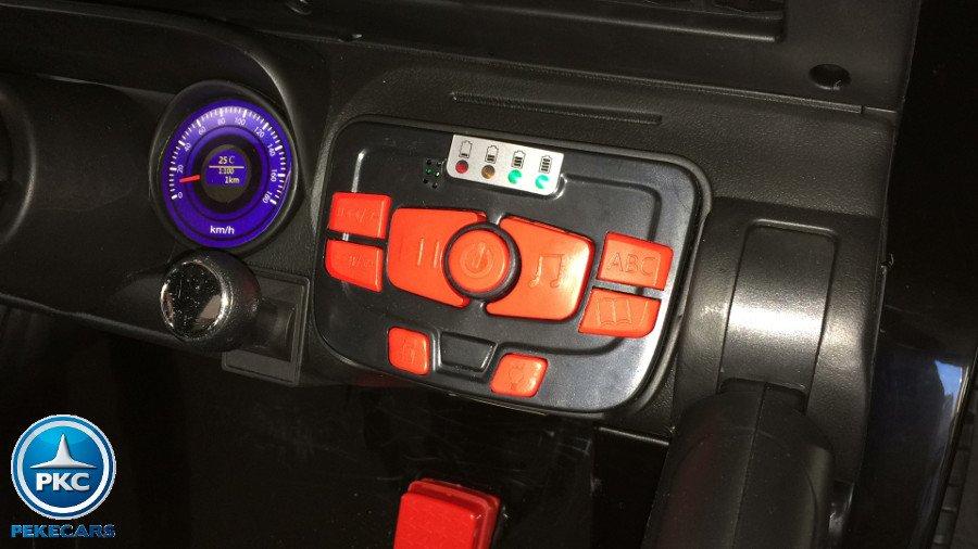 Coche electrico para niños Monster Jeep Negro dashboard