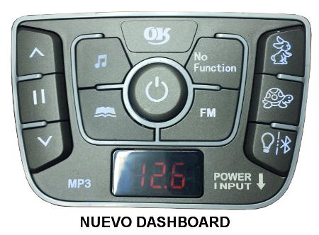 Nuevo dashboard con bluetooth