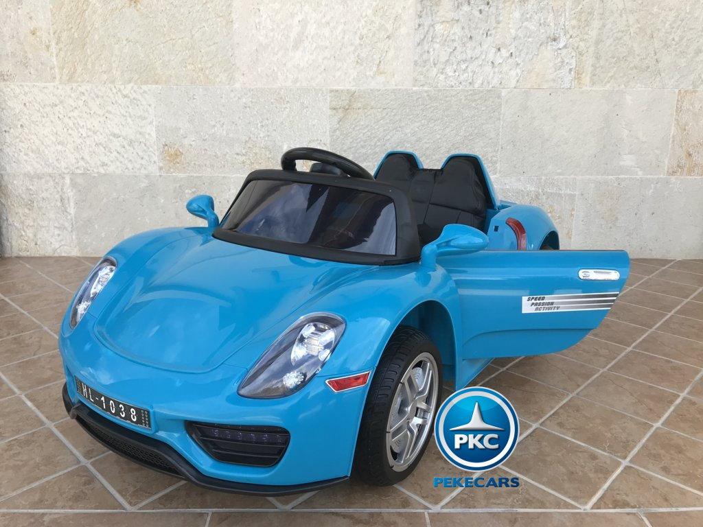 Coche electrico infantil Porsche style azul