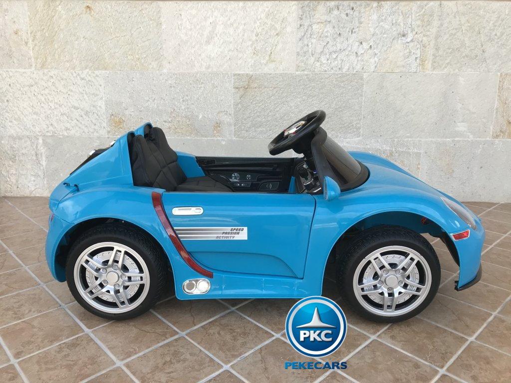 Coche electrico para niños Porsche style azul