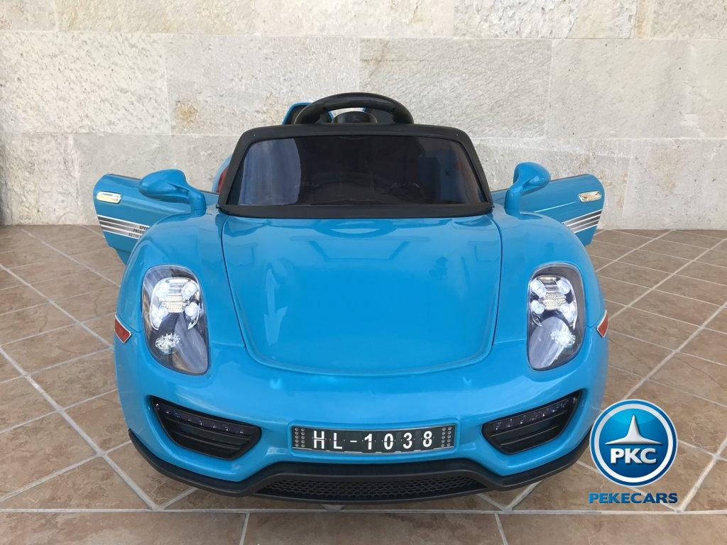 Coche electrico infantil Porsche style azul frontal