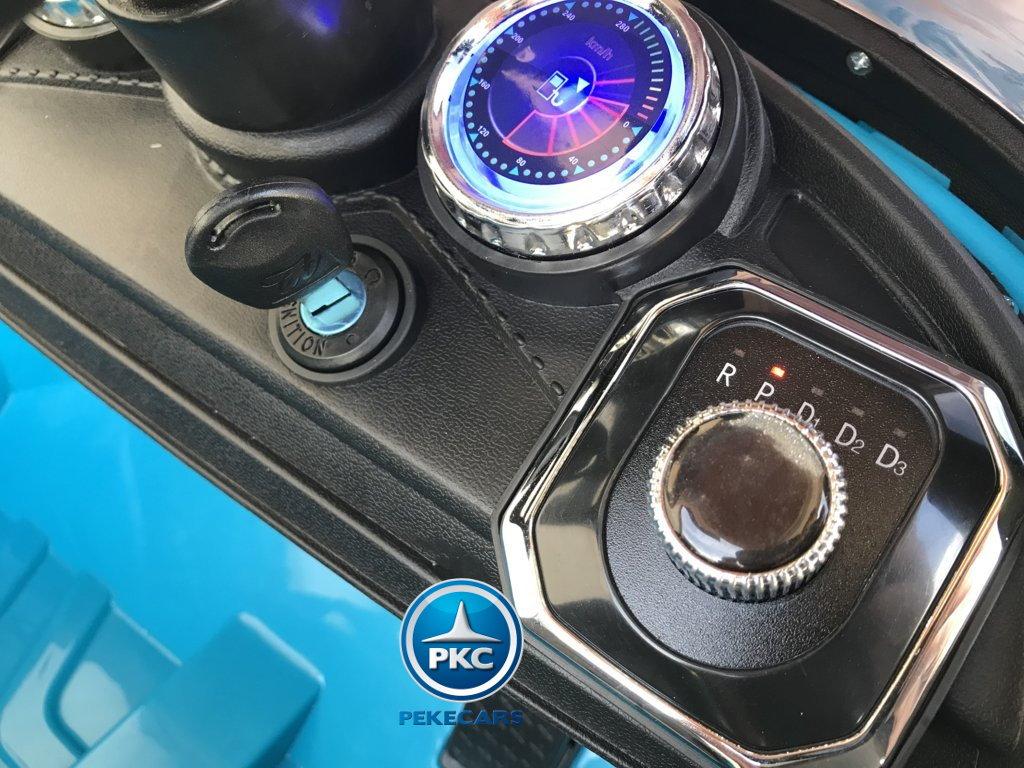Coche electrico infantil Porsche style azul llave de arranque