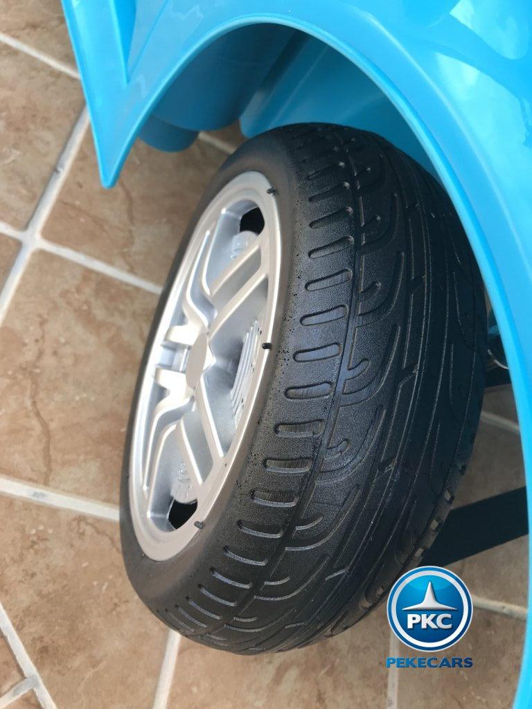 Coche electrico infantil Porsche style azul ruedas de caucho antipinchazos