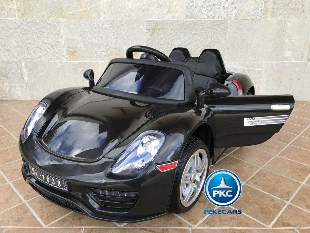 Coche electrico para niños Porsche style negro