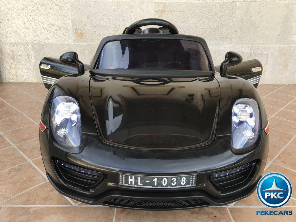 Coche electrico infantil Porsche style negro