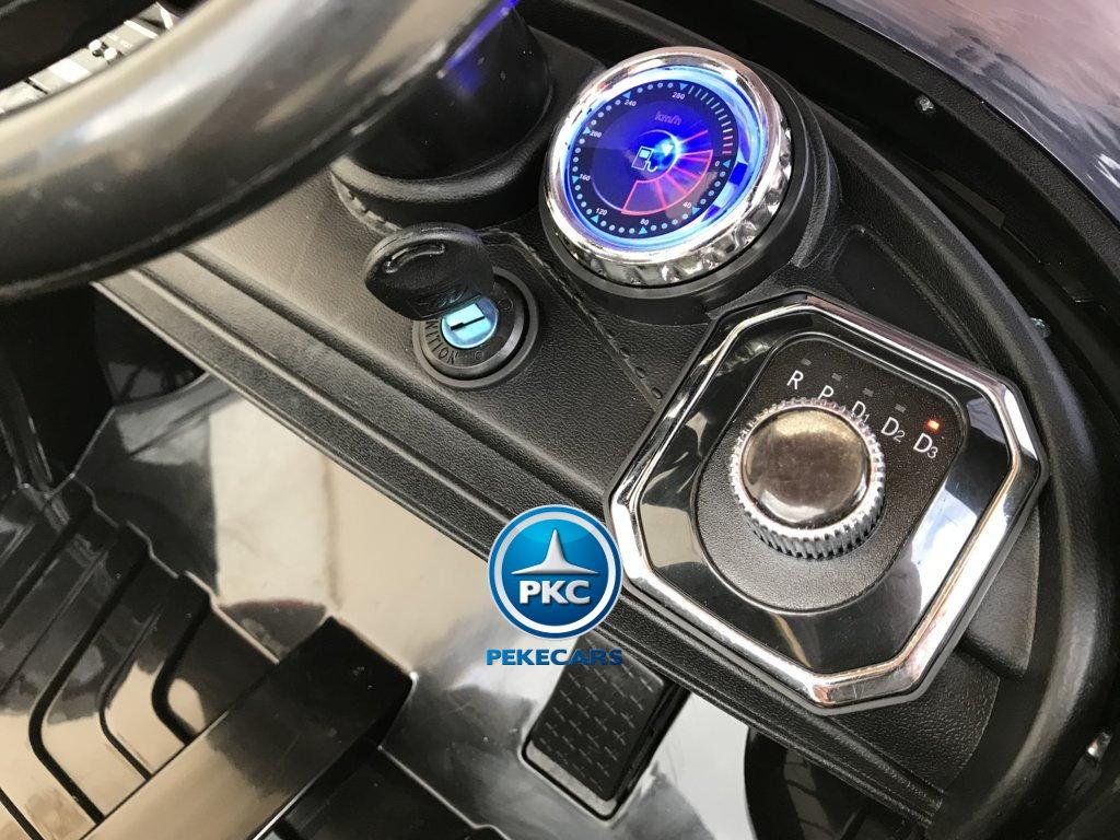 Coche electrico para niños Porsche style negro llave de arranque