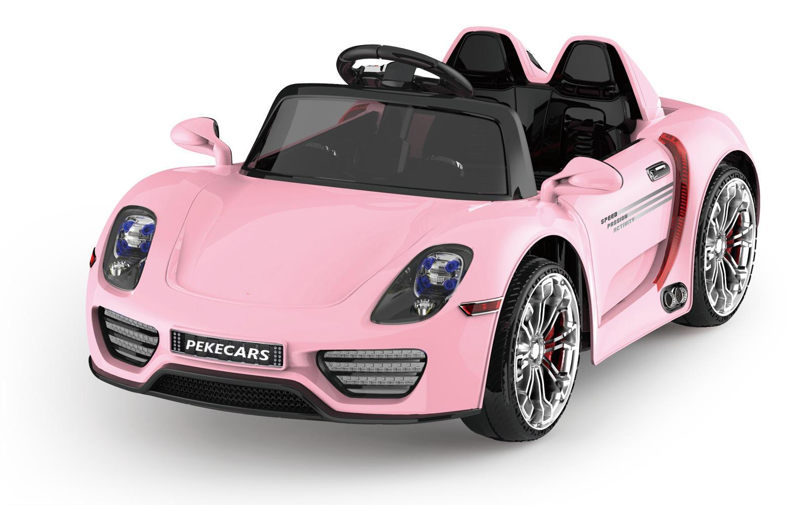 Coche electrico para niños Porsche style rosa vista principal